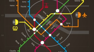 Subway Metro Map Cool Design Style PowerPoint