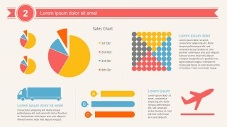 Annual Pie Percentage Chart PowerPoint Infographics