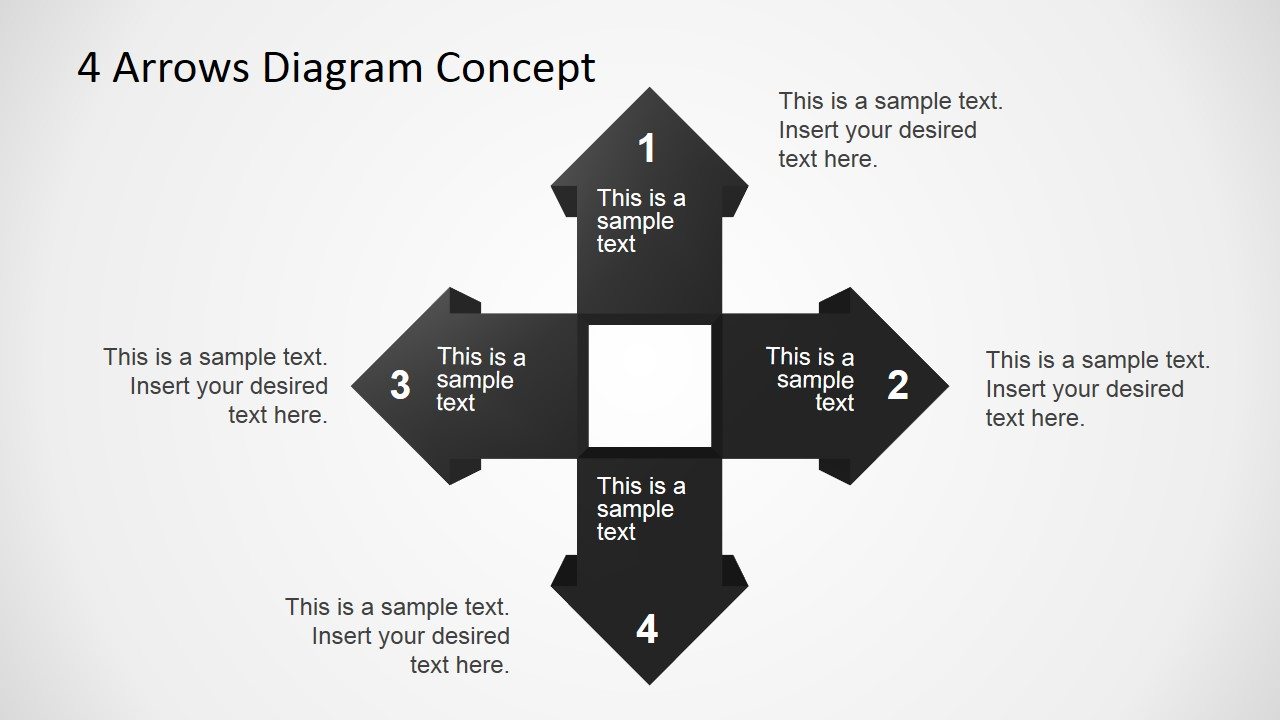 free 4 arrows diagram slides for powerpoint