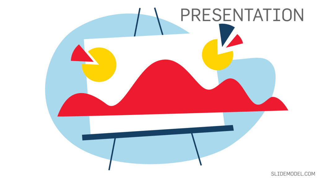 Illustration representing a sales presentation