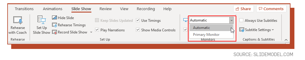 Speaker Notes text adjustment interface in PowerPoint