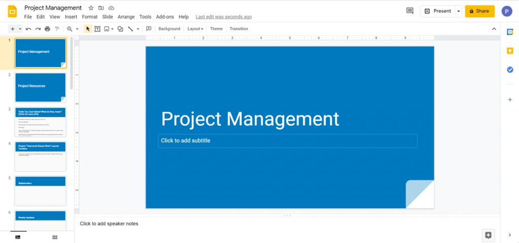 Open Trello Presentation in Google Slides