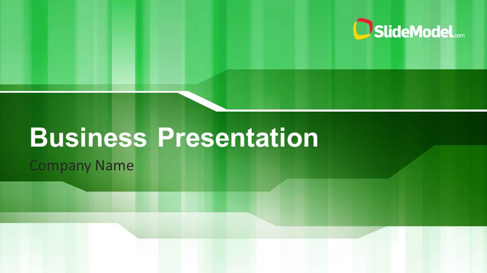 Green stripes business powerpoint template slidemodel green stripes business powerpoint template accmission Gallery