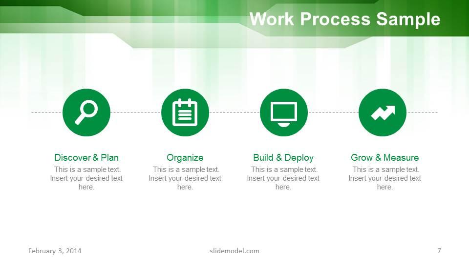 green stripes business powerpoint template slidemodel