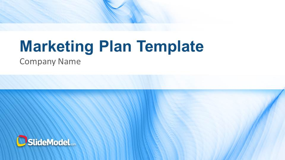 blue marketing plan template for powerpoint - slidemodel, Modern powerpoint