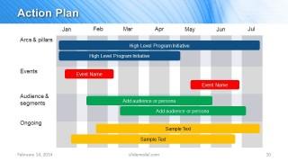 Blue Marketing Plan Template For Powerpoint Slidemodel