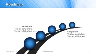 Roadmap Slide Design Template for PowerPoint