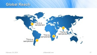 World Map Slide Design for Global Reach