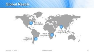 World Map PowerPoint Slide Design for Global Reach