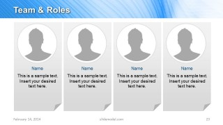 Team Responsibilities & Roles Slide design  for PowerPoint