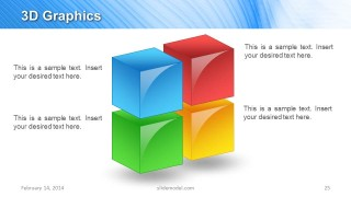3D Cubes Slide Design for PowerPoint