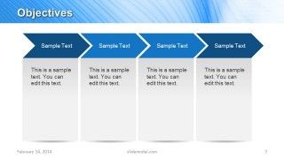 4 Chevron Arrows for Objectives Slide Design in PowerPoint