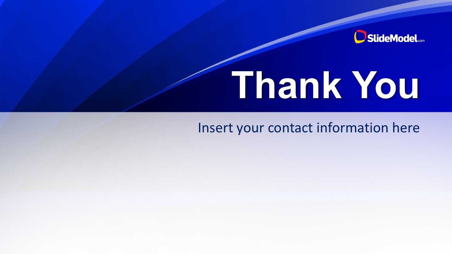 PowerPoint Blue Slide Thank You