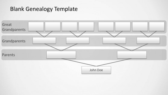 Blank Genealogy Slide Design for PowerPoint