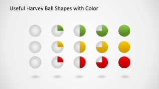 Colorful Harvey Ball Icons for PowerPoint with 3D spheres