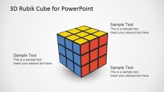Editable PowerPoint 3x3x3 Rubik Cube