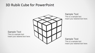 Rubik's Cube Outline for PowerPoint