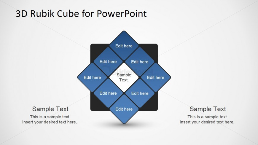 PowerPoint Design of Rubik's Cube Face Rotating