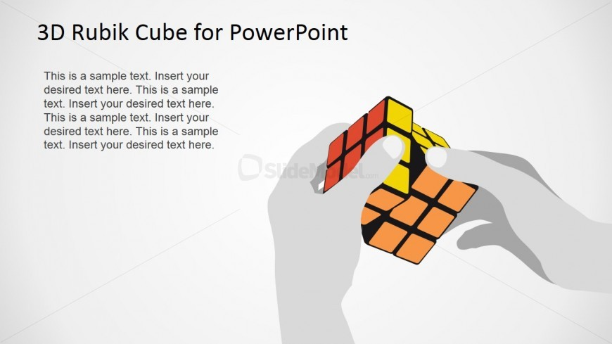 User Solving Magic Cube Puzzle for PowerPoint