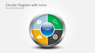 4 Step Circular Diagram with Icons for PowerPoint