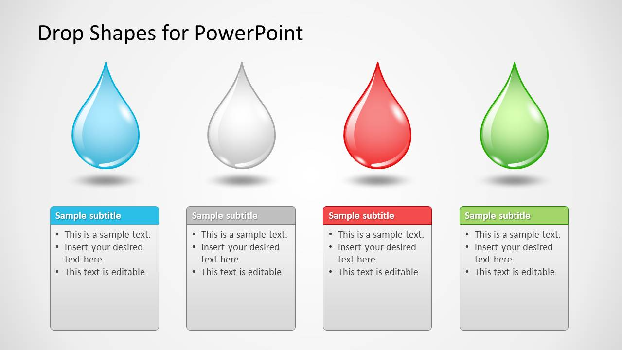 Drop Shapes for PowerPoint - SlideModel