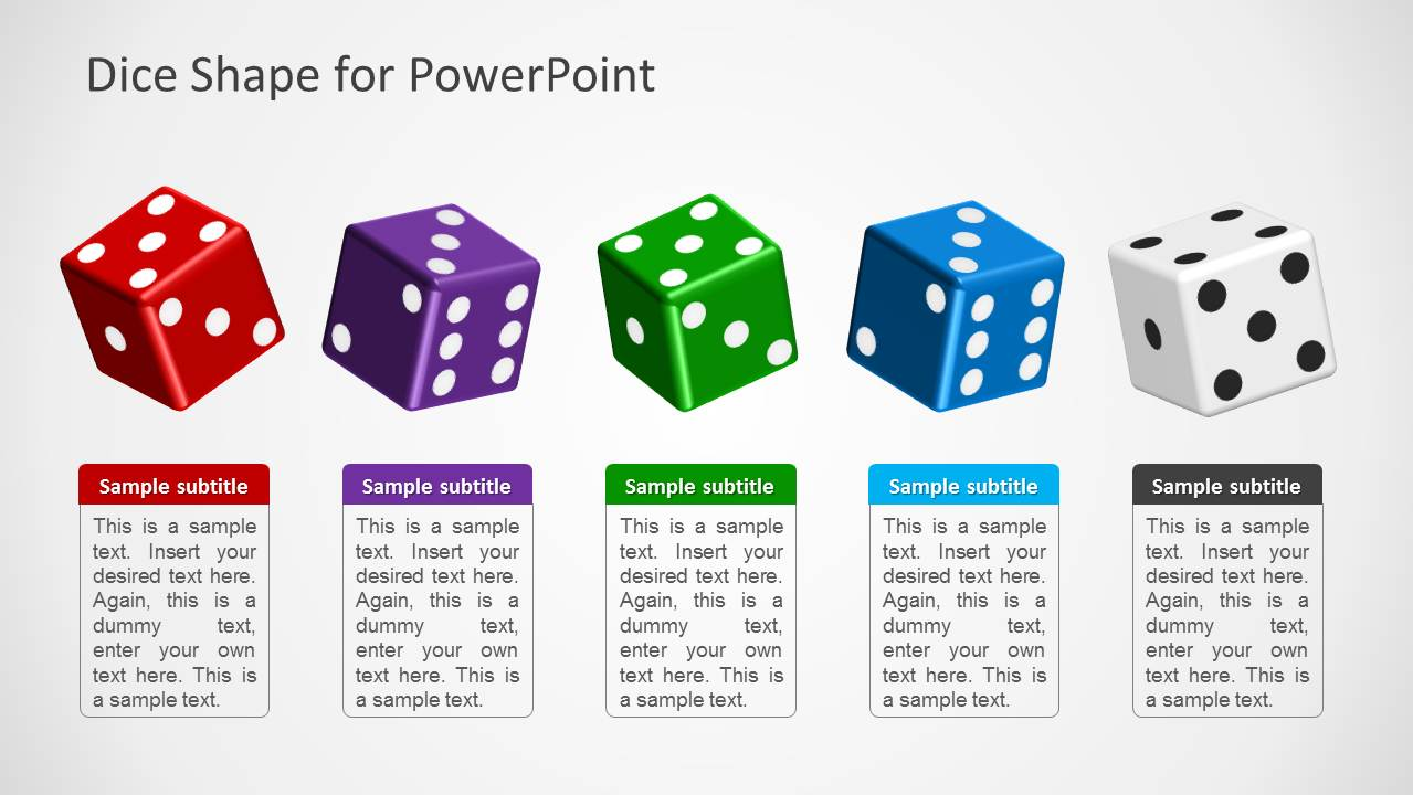 5 Dice Shapes for PowerPoint