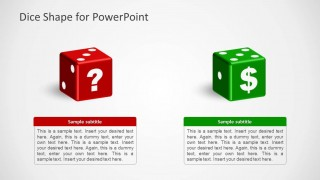 2 Dices for PowerPoint with Symbols