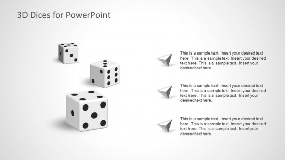3 Dices Slide Design for PowerPoint