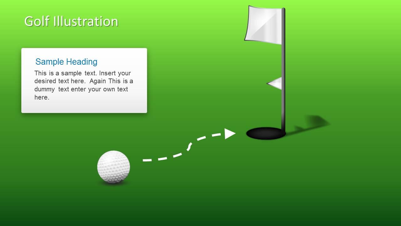 golf ball shapes for powerpoint slidemodel. Black Bedroom Furniture Sets. Home Design Ideas