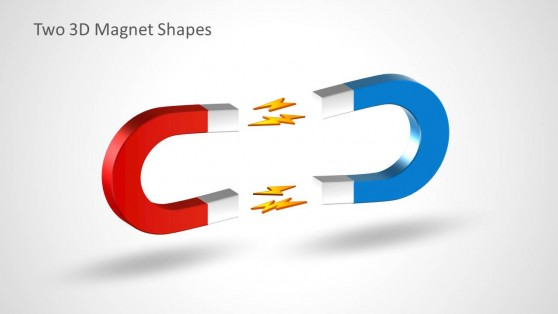 3D Opposing Magnets Shapes for PowerPoint