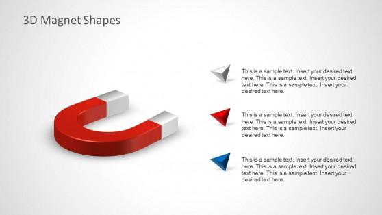 Professional 3D Horseshoe Magnet Clipart
