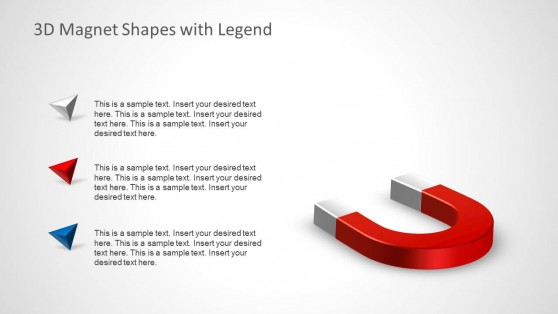 3D White and Red Bullets for PowerPoint