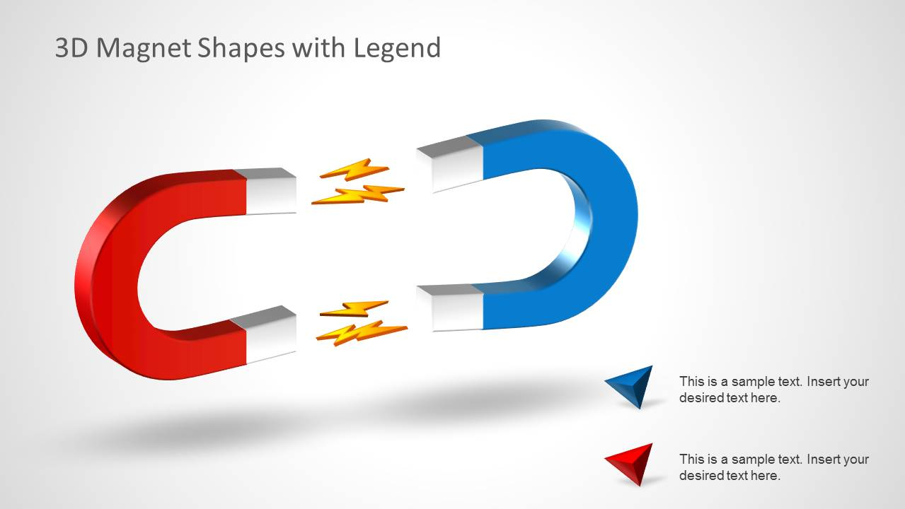 PowerPoint Slide with two Opposing Horseshoe Magnets Clipart