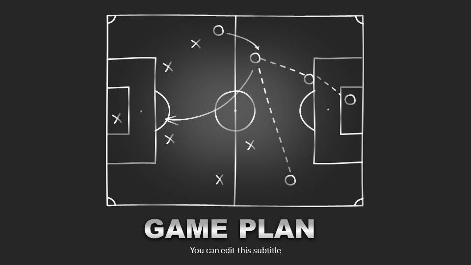 Editable game plan template for powerpoint slidemodel editable game plan template for powerpoint greenboard football toneelgroepblik Image collections