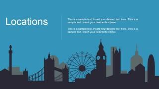 London City Locations Metaphor PowerPoint Slide