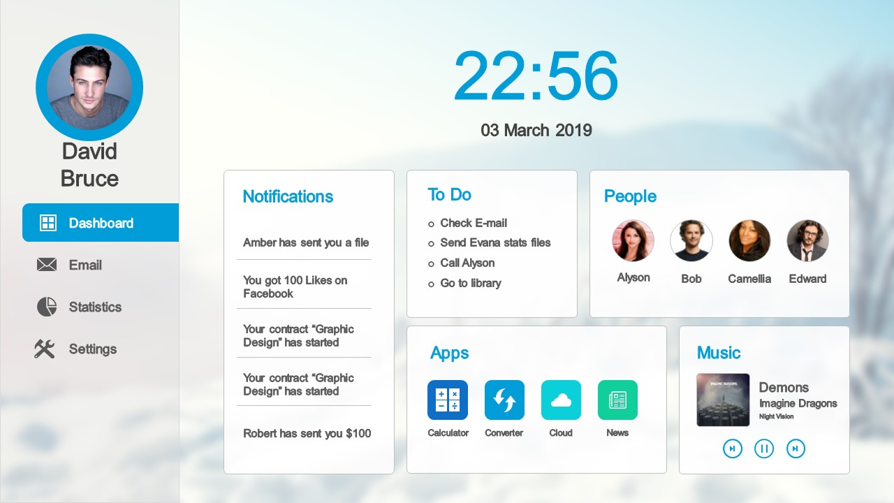 Dashboard Layout Editable PowerPoint Slide