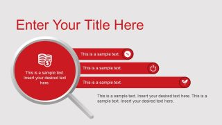 Magnifying Glass PowerPoint Shape