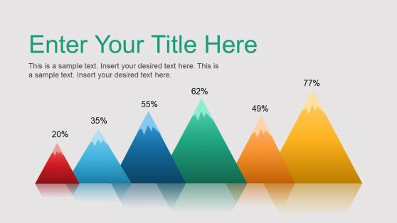 Cool Mountain Peak PowerPoint Bar Chart