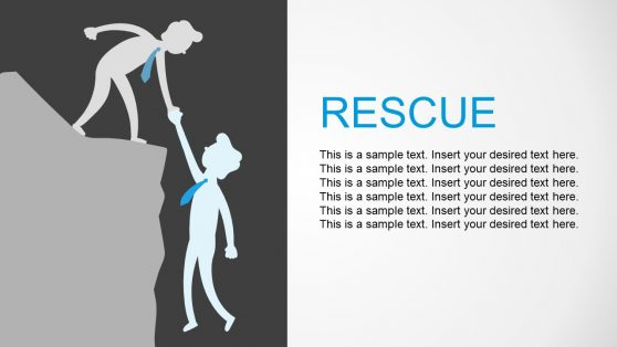 Rescue Business Metaphor PowerPoint
