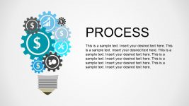 Clustered Icons Business Process Diagram