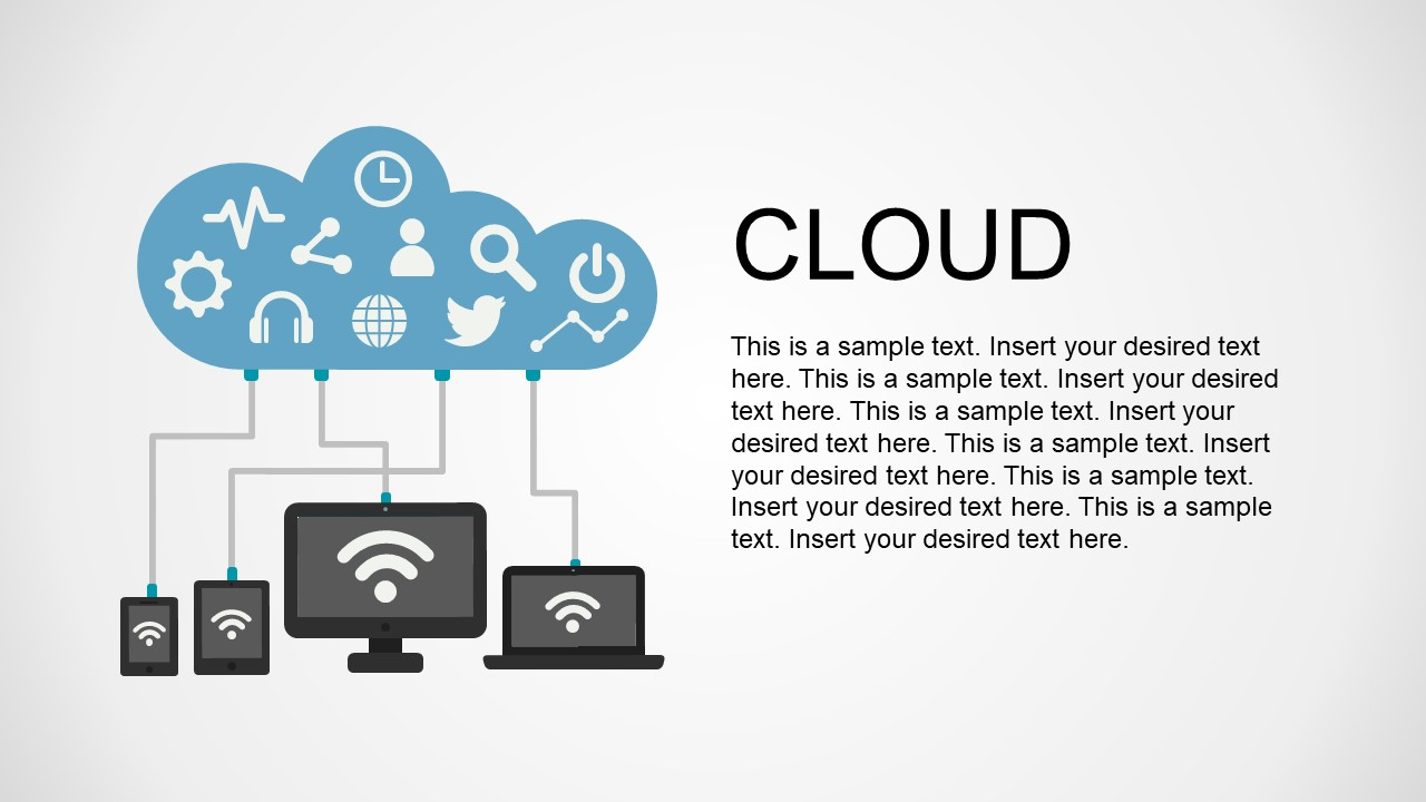 Cloud Shape with Infographic Icons