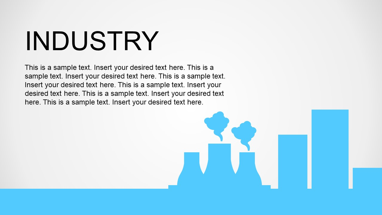 View of Factory Industry Production Metaphor