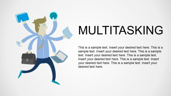 Multitasking Vector Flat Image PowerPoint Theme