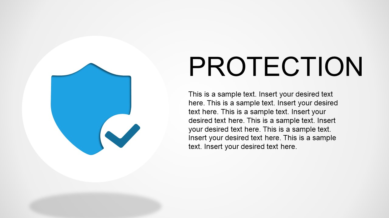 Security Shield Blue Image PPT Template
