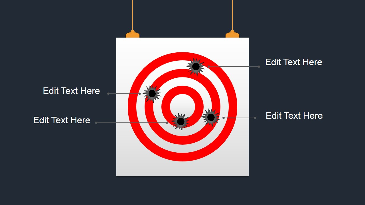 Bullseye shapes for powerpoint slidemodel for Bullseye chart template