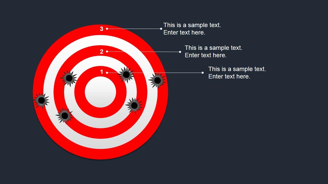 Bullseye shapes for powerpoint slidemodel target powerpoint template professional target clipart for powerpoint maxwellsz