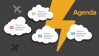 Clouds & Thunder Illustration for PowerPoint