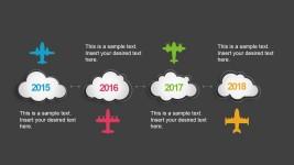 Flying Timeline Concept Slide