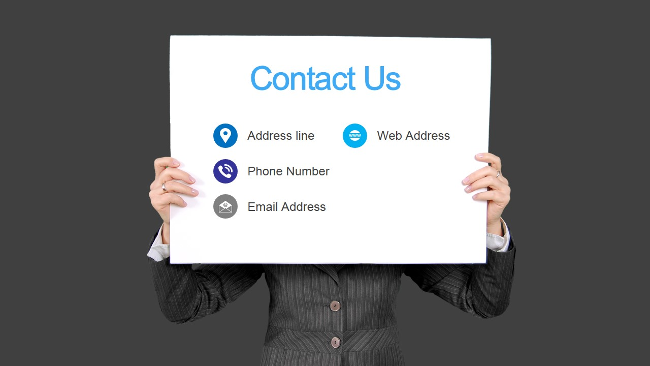 Business Contact Information Slide