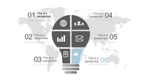 Graphics of PowerPoint Lightbulb Diagram